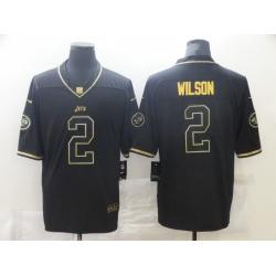Nike New York Jets 2 Zach Wilson Black Gold Vapor Untouchable Limited Jersey