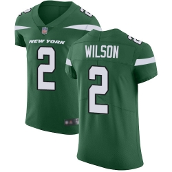 Nike New York Jets 2 Zach Wilson Green Team Color Men Stitched NFL Vapor Untouchable Elite Jersey