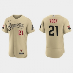 Arizona Diamondbacks 21 Stephen Vogt Men Nike 2021 City Connect Authentic MLB Jersey Gold
