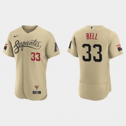 Arizona Diamondbacks 33 Jay Bell Men Nike 2021 City Connect Authentic MLB Jersey Gold
