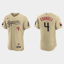 Arizona Diamondbacks 4 Craig Counsell Men Nike 2021 City Connect Authentic MLB Jersey Gold