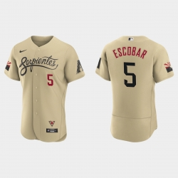 Arizona Diamondbacks 5 Eduardo Escobar Men Nike 2021 City Connect Authentic MLB Jersey Gold