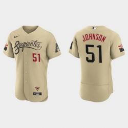 Arizona Diamondbacks 51 Randy Johnson Men Nike 2021 City Connect Authentic MLB Jersey Gold