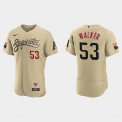 Arizona Diamondbacks 53 Christian Walker Men Nike 2021 City Connect Authentic MLB Jersey Gold