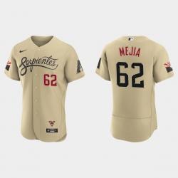 Arizona Diamondbacks 62 Humberto Mejia Men Nike 2021 City Connect Authentic MLB Jersey Gold