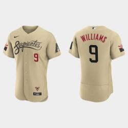 Arizona Diamondbacks 9 Matt Williams Men Nike 2021 City Connect Authentic MLB Jersey Gold