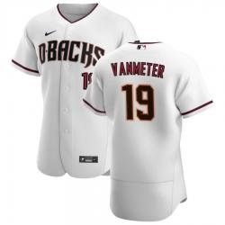 Men Arizona Diamondbacks 19 Josh VanMeter Men Nike White Crimson Flex Base Home Team MLB Jersey