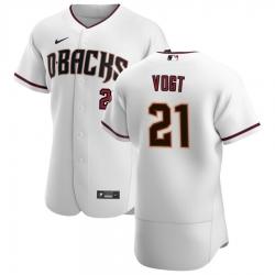 Men Arizona Diamondbacks 21 Stephen Vogt Men Nike White Crimson Flex Base Home Team MLB Jersey