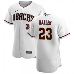 Men Arizona Diamondbacks 23 Zac Gallen Men Nike White Crimson Flex Base Home Team MLB Jersey