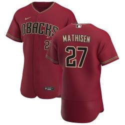 Men Arizona Diamondbacks 27 Wyatt Mathisen Men Nike Crimson Flex Base Alternate Team MLB Jersey