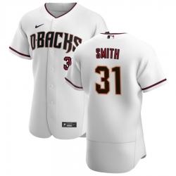 Men Arizona Diamondbacks 31 Caleb Smith Men Nike White Crimson Flex Base Home Team MLB Jersey