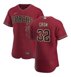 Men Arizona Diamondbacks 32 Kevin Cron Men Nike Crimson Flex Base Alternate Team MLB Jersey