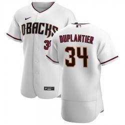 Men Arizona Diamondbacks 34 Jon Duplantier Men Nike White Crimson Flex Base Home Team MLB Jersey