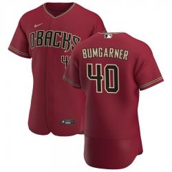 Men Arizona Diamondbacks 40 Madison Bumgarner Men Nike Crimson Flex Base Alternate Team MLB Jersey