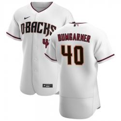 Men Arizona Diamondbacks 40 Madison Bumgarner Men Nike White Crimson Flex Base Home Team MLB Jersey
