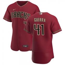 Men Arizona Diamondbacks 41 Junior Guerra Men Nike Crimson Flex Base Alternate Team MLB Jersey