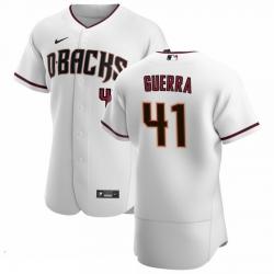 Men Arizona Diamondbacks 41 Junior Guerra Men Nike White Crimson Flex Base Home Team MLB Jersey