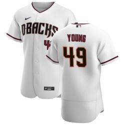 Men Arizona Diamondbacks 49 Alex Young Men Nike White Crimson Flex Base Home Team MLB Jersey