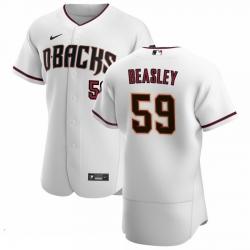 Men Arizona Diamondbacks 59 Jeremy Beasley Men Nike White Crimson Flex Base Home Team MLB Jersey