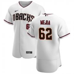 Men Arizona Diamondbacks 62 Humberto Mejia Men Nike White Crimson Flex Base Home Team MLB Jersey