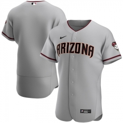 Men Arizona Diamondbacks Men Nike Gray Road 2020 Flex Base MLB Team Jersey
