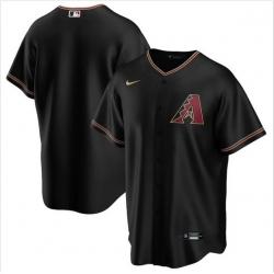 Men Arizona Diamondbacks Nike Black Blank Jersey