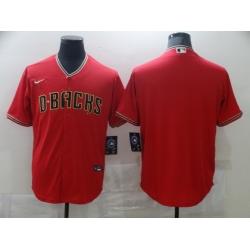 Men Nike Arizona Diamondbacks Red  Blank Coolbase Jersey