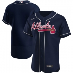 Men Atlanta Braves Men Nike Navy Alternate 2020 Flex Base Official MLB Team Jersey