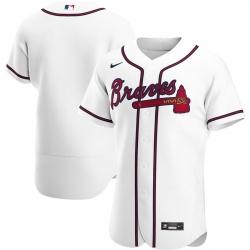 Men Atlanta Braves Men Nike White Home 2020 Flex Base Team MLB Jersey