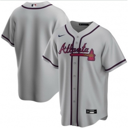 Men Atlanta Braves Nike Gray Blank Jersey