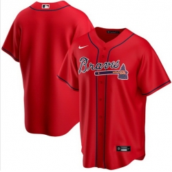 Men Atlanta Braves Nike Red Blank Jersey