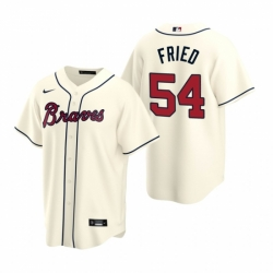 Mens Nike Atlanta Braves 54 Max Fried Cream Alternate Stitched Baseball Jersey