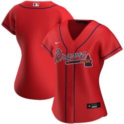 Atlanta Braves Nike Women Alternate 2020 MLB Jersey Red