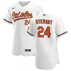Men Baltimore Orioles 24 DJ Stewart Men Nike White Home 2020 Flex Base Player MLB Jersey