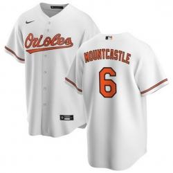 Men Baltimore Orioles 6 Ryan Mountcastle Coolbase White Jersey