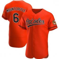 Men Baltimore Orioles 6 Ryan Mountcastle Flexbase Orange Jersey