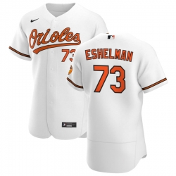 Men Baltimore Orioles 73 Thomas Eshelman Men Nike White Home 2020 Flex Base Player MLB Jersey
