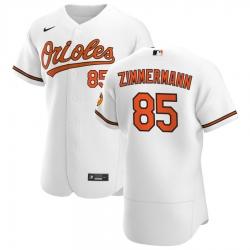 Men Baltimore Orioles 85 Bruce Zimmermann Men Nike White Home 2020 Flex Base Player MLB Jersey