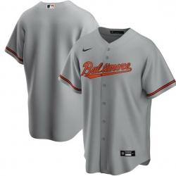 Men Baltimore Orioles Nike Gray Blank Jersey