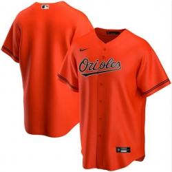 Men Baltimore Orioles Nike Orange Blank Jersey