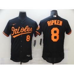 Men Nike Baltimore Orioles 8 Cal Ripken Jr Black Authentic Player MLB Jersey