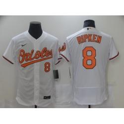 Men Nike Baltimore Orioles 8 Cal Ripken Jr White Authentic Player MLB Jersey