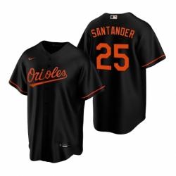 Mens Nike Baltimore Orioles 25 Anthony Santander Black Alternate Stitched Baseball Jersey
