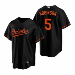 Mens Nike Baltimore Orioles 5 Brooks Robinson Black Alternate Stitched Baseball Jerse