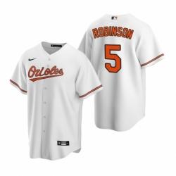 Mens Nike Baltimore Orioles 5 Brooks Robinson White Home Stitched Baseball Jerse