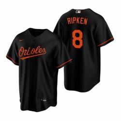 Mens Nike Baltimore Orioles 8 Cal Ripken Jr Black Alternate Stitched Baseball Jerse