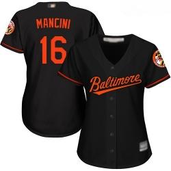 Orioles #16 Trey Mancini Black Women Alternate Stitched Baseball Jersey