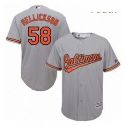 Youth Majestic Baltimore Orioles 58 Jeremy Hellickson Replica Grey Road Cool Base MLB Jersey