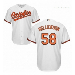 Youth Majestic Baltimore Orioles 58 Jeremy Hellickson Replica White Home Cool Base MLB Jersey