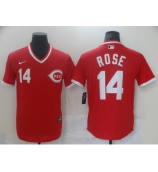 Men Nike Cincinati Reds Pete Rose 14 Red Cool Base Stitched Pullover MLB Jersey